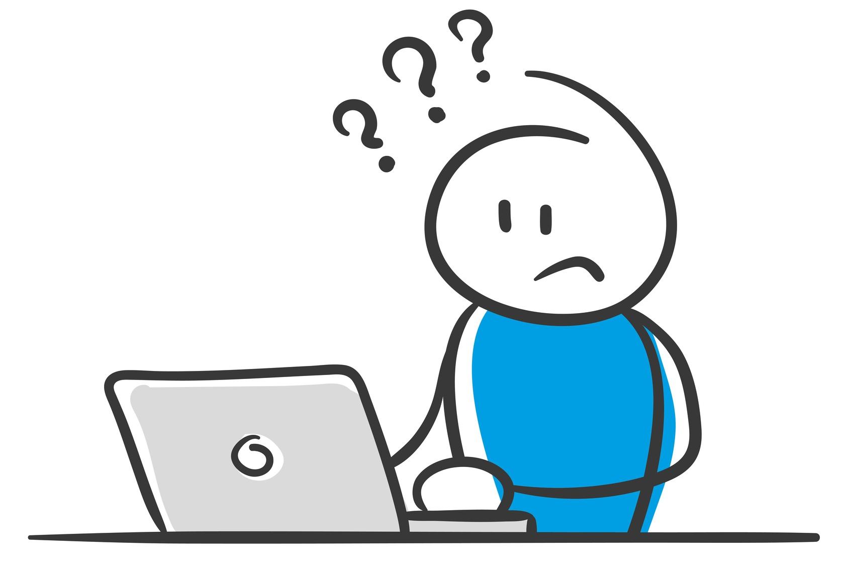 Internetkurs   Digitale Medien   PC   Laptop   Computer   Verwirrt