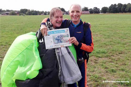 Fallschirmspringer | Zeitung | Gewinner